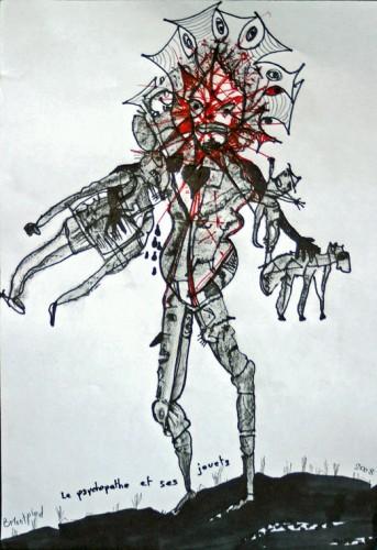 Bruno Montpied,Le psychopathe et ses jouets, 2008.jpg