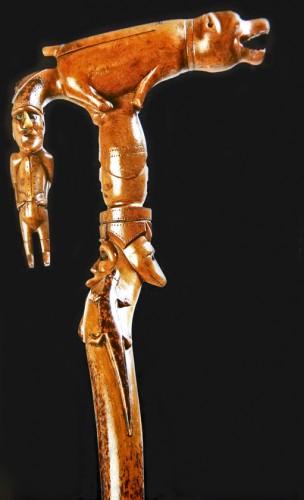 Canne en buis, XIXe, exposition les cannes populaires d'Europe, catalogue de L.Jantzen.jpg