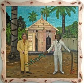 Edouard Duval-Carré,Hector et son mentor, la rencontre d'André Breton et d'Hector Hyppolite en Haïti, 1992, expo Malraux en Haïti, le Musée du Montparnasse, ph.Bruno Montpied, 2009.jpg