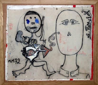 Michel Macréau,La mère et l'enfant, 1972, Exposition Halle Saint-Pierre, 2009, photo B.Montpied.jpg