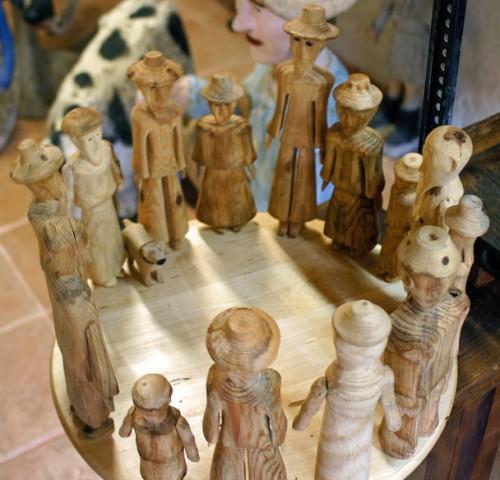 Denis Jammes,sculptures du musée Les Amoureux d'Angélique, Le Carla-Bayle, ph.B.Montpied, 2008.jpg