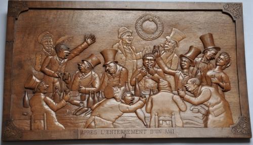 Kobus (non signé) (2), Après l'enterrement d'un ami, sd, 32,5x54,5cm (vers 2).jpg