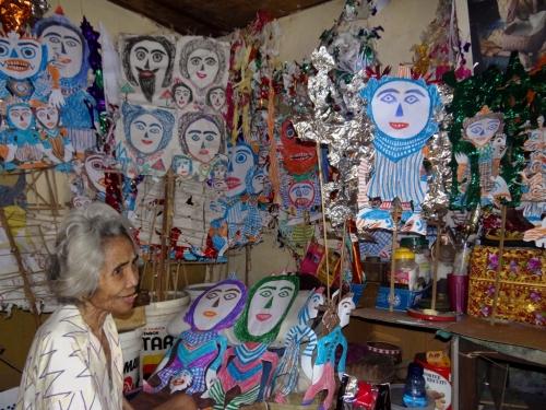 fabuloserie-paris,ni tanjung,georges bréguet,lucienne peiry,l'art brut dans le monde,art brut indonésien,wayang kulit