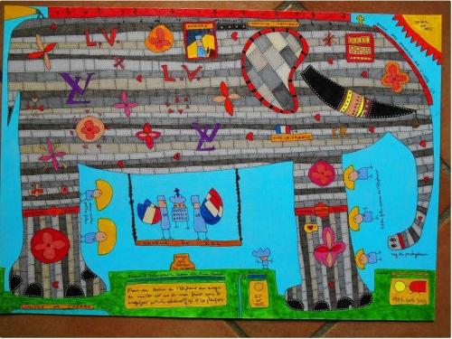 éléphants,pachydermes,le gazouillis des éléphants,environnements spontanés,art enfantin,art brut,bestiaire,bruno montpied,inventaire des environnements populaires spontanés,fontaine des 4-100-q,art topiaire,sablières bretonnes,yarn bombing,sculpture sur sable,cartes postales art insolite,winter duerec