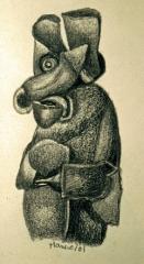 Gilles Manero,sans titre, dessin mine de plomb,200l, coll.BM.jpg