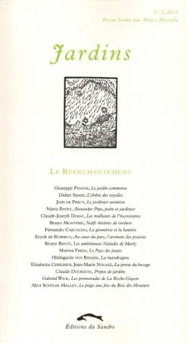 jardins n°2,éditions du sandre,marco martella,bruno montpied,environnements spontanés,habitants-paysagistes,naïfs théâtres de verdure