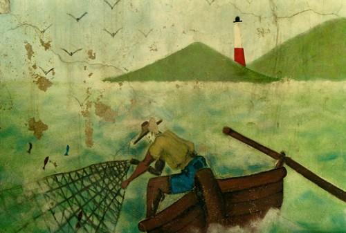 Les chutes du Carbet,le pêcheur, ph Bruno Montpied, 2000.jpg
