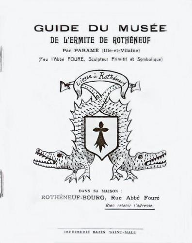 Couverture du Guide du Musée de l'Ermite de Rothéneuf, auteur inconnu, 1919.jpg