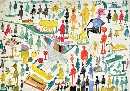 carlo zinelli,madge gill,collection polychrome,éditions ides et calendes,florence millioud henriques,marie-hélène jeanneret,vittorino andreoli,michael noble