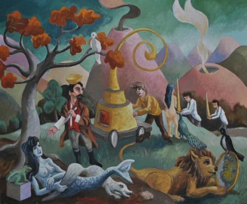 guy girard,groupe surréaliste de paris,poèmes,peinture surréaliste contemporaine,surréalisme naïf,galerie l'usine,claude brabant
