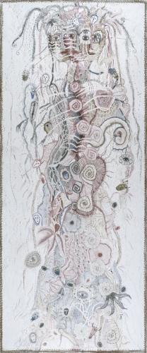 SK Femmes n°7, 2012, crayons de couleur, 182x7cm.jpg