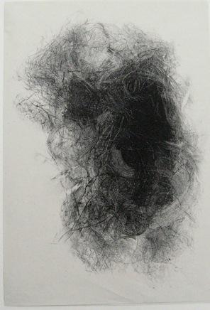 E.Quinche Encre et crayon sur fond de lithographie,, expo Surgis de l'ombre, choix de Florian Rodar galerie alain Parie 2013i.jpg