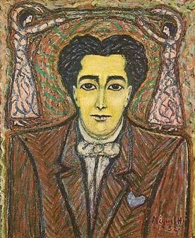 Miguel Hernandez, Portrait d'André Breton, 1952, vente Breton à Drouot en 2003.jpg