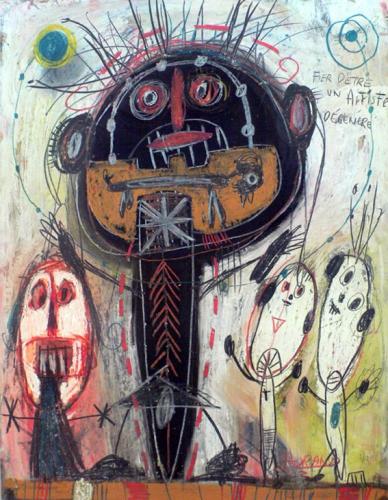 joel lorand, Fier d'être un artiste dégénéré, 2002, site F.Lux.JPG