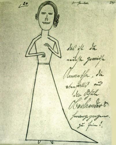 Oskar Panizza, Pour Gambetta... dessin, vers 1906.jpg