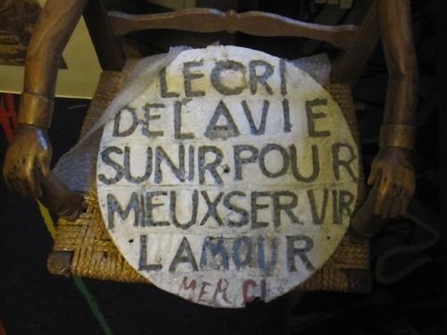 Virgili, Panneau slogan d'amour, réunion et photo M.Boudin, 2010.jpg