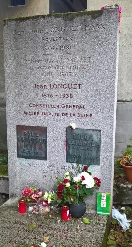 (A bas) Le Travail sur la tombe de Paul Lafargue .jpg