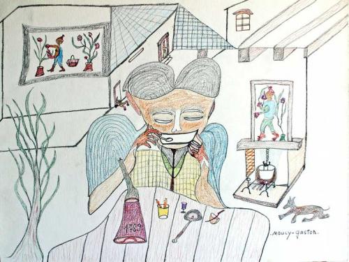 gaston mouly,doriane mouly,recensement de l'oeuvre de gaston mouly,art rustique moderne,art singulier