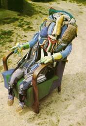 Caroll Bertin, photo extraite de Création Franche n°8, article de Bernard Chevassu, 1993.jpg
