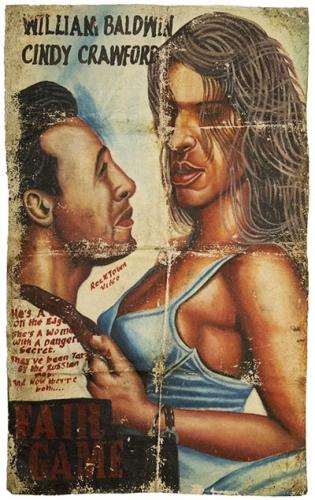 poster 1 du Libéria, auteur inconnu, huile sur nappe, fair game.jpg