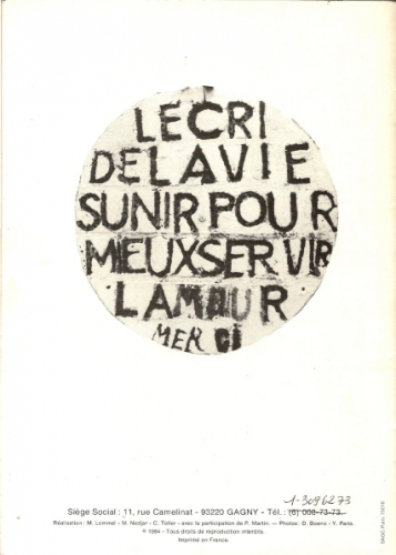 Dernière page de la plaquette Virgili,L'Aracine, 1984.jpg