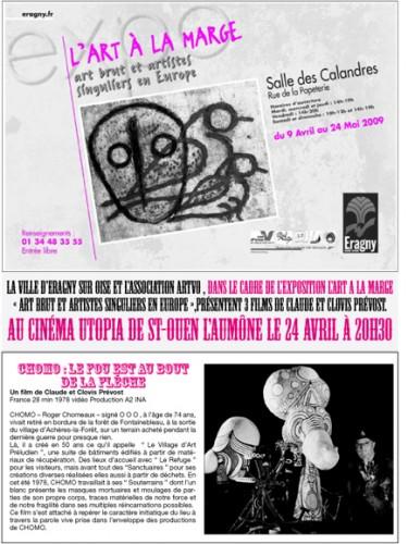 Programme art à la marge, film des Prévost à l'Utopia à St-Ouen-l'Aumône, 24 avril 2009.jpg