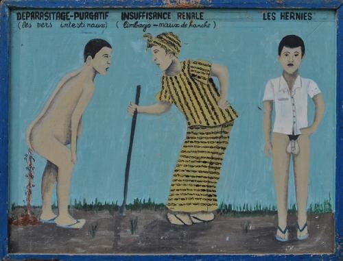 Anonyme (2), enseigne africaine médicale naïve, 61x81cm, sd (années 50 ptêt).jpg