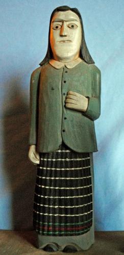 jan lamecki,stanislas denkiewicz,art naïf polonais,sculpture naïve polonaise,art populaire polonais,jubilés,journée internationale de la femme,souhaits de longévité,jupes plissées,art immédiat