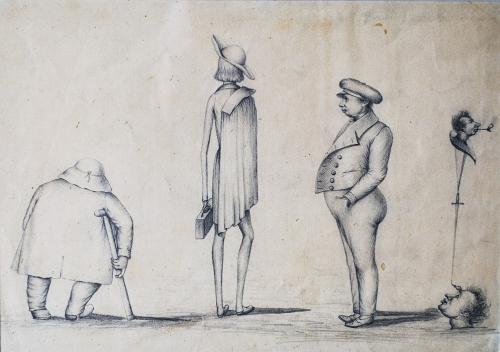 dessins anonymes,caricatures,équilibristes,art graphique insolite