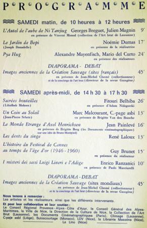 Programme (contenant quelques trucages) des XIes Rencontres autour de l'Art Singulier, association Hors-Champ, Nice 2008.jpg