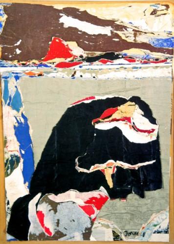Asger-Jorn-roi-nègre-tirant-la-langue-devant-les-Pas-de-Calais-1968,-décollage-Nationalgalerie-Berlin.jpg