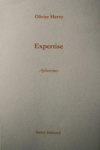 Oliver Hervy, couverture de son livre Expertise, éd.Pierre Mainard, 2007.jpg
