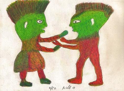 Ataa Oko,dessin sans titre (deux esprits), collection de l'art brut, Lausanne.jpg
