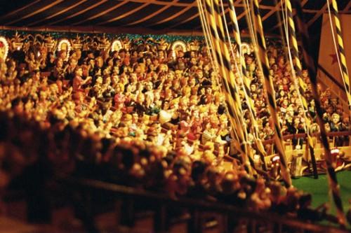 Maurice Masvignier,détail de son cirque Valdi miniaturisé, ph.Bruno Montpied, 2005.jpg