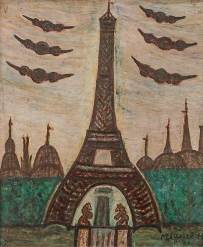 Miguel Hernandez Les crêtes de Paris, 1951 55x46cm huile sur isorel.jpg