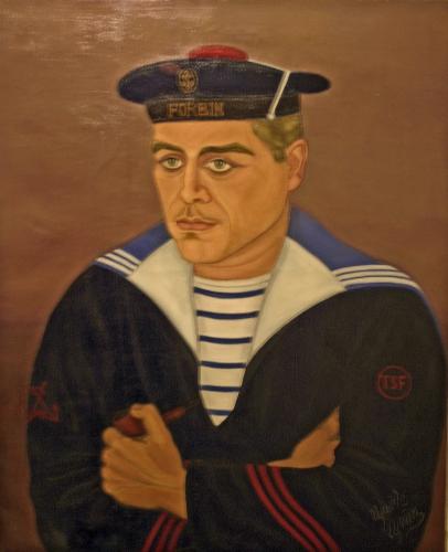 Gisèle Grun-Rousseau, portrait d'un marin nommé Forbin, Coll perm du M de la Création Franche, ph 2008.jpg
