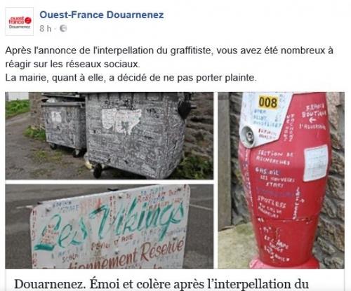 graffitis,graffitiste cinéphile de douarnenez,télégramme de brest,ouest-france,inscriptions,cinéma,télévision,poésie urbaine,art brut des inscriptions,street art sauvage