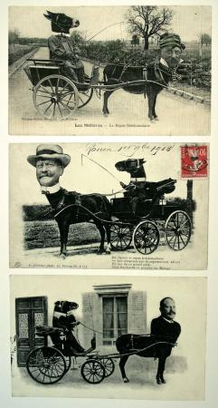 Cartes postales années1900, expo La Photographie timbrée, Jeu de Paume, 2008.jpg