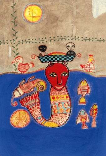 sirène sur l'affiche du Festival de l'Oh!, 26-27 juin 2009.jpg