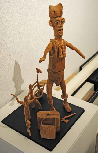 sculpture anonyme,art brut anonyme,galerie dettinger-mayer