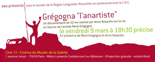 Gregogna carton d'invitation au film d'Anne Desanlis à Paris en 2007.jpg