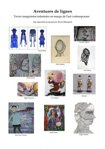 aventures de lignes,bruno montpied,galerie amarrage saint-ouen,art singulier,imaginistes,intimistes,marge de l'art contemporain