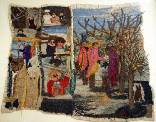 Marguerite Sirvins,oeuvre exposée aux chemins de l'Art Brut VI, St-Alban-sur-Limagnole, ph.Bruno Montpied, 2007.jpg