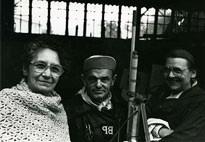 De gauche à droite,Madeleine Lommel, André Robillard, Claire Teller, archives LaM, Villeneuve-d'Ascq.jpg