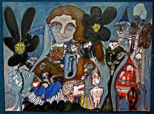 arts buissonniers,des fleurs dans le buisson,arts singuliers,art brut,pol lemétais,saint-sever-du-moutier