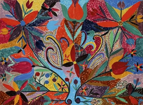Abdelkader Rifi, composition florale, 59x80, vente Tajan 2008.jpg