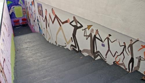 Musée Singer-Polignac, fresque dans l'escalier d'accès, ph. B.Montpied, 2009.jpg
