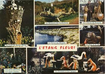 Carte postale, L'Etang fleuri, éd. Cap-Théojac, années 1970.jpg