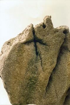 Les roches qui serrent les fesses, île Callot, Finistère, 1995, ph.Bruno Montpied.jpg