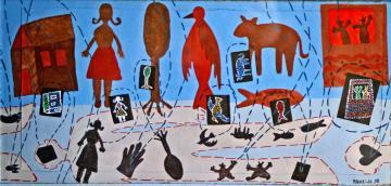 Marilena Pelosi, Elle voyait comme ça dans son imagination, 1998, gouache sur carton, 27x43 cm, coll.privée, photo Bruno Montpied.jpg